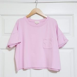 Gap Love boxy cropped french terry tee light pink